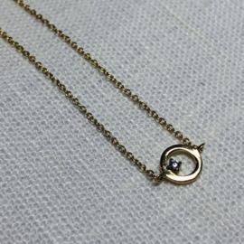 14 karaat goud collier cirkel