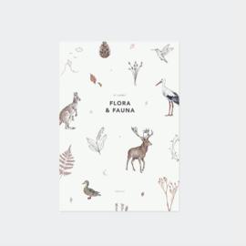 Inkylines postcard set, Flora & Fauna