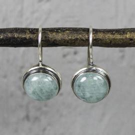 Jeh Jewels oorhangers zilver aquamarijn