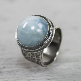 Jeh Jewels ring zilver met aquamarijn