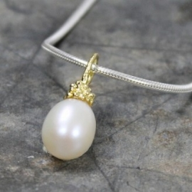 Jeh Jewels hanger zilver verguld - zoetwaterparel
