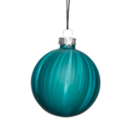 Christmas bauble glass L green
