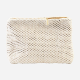 House Doctor toiletry bag Fia large, off white