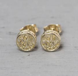 Jeh Jewels oorstekers 14kt goud rond