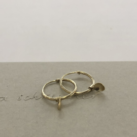 Eva Schreuder earrings -  Bouton, silver goldplated