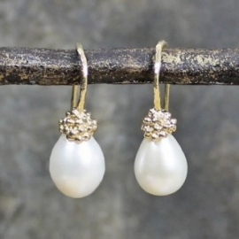 Jeh Jewels drop earrings goldplated with pearl