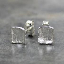 Jeh Jewels oorstekers zilver vierkant