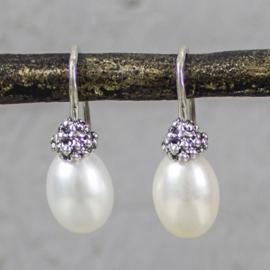 Jeh Jewels drop earrings silver white pearl
