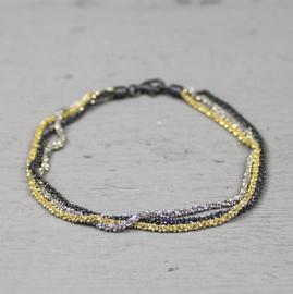 Jeh Jewels armband gerhodineerd/wit/oxy