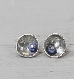 Jeh Jewels oorstekers zilver met sodaliet