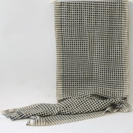 Denovembre sjaal Structure - ecru + zwart/grijs