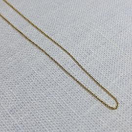 14 karaat goud collier anker