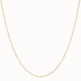Flawed - figaro collier zilver verguld