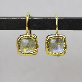 Jeh Jewels drop earrings goldplated and labradorite