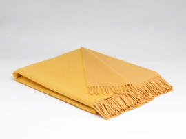 Mc Nutt of Donegal lambswool blanket, golden sun