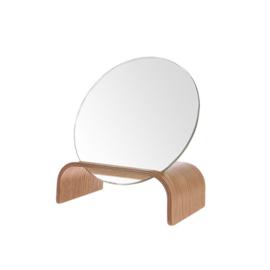 HK Living standaard van wilgenhout met spiegel
