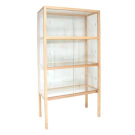 HK living display cabinet ash wood
