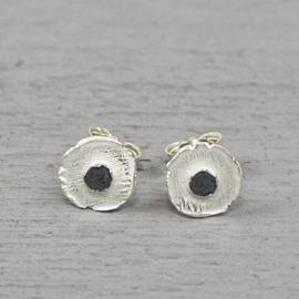 Jeh Jewels oorstekers zilver/oxy