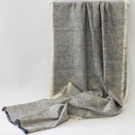 Denovembre sjaal Calme - ecru + blauw