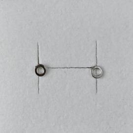 Eva Schreuder ear studs -  Goute nr 3, silver