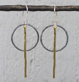 Jeh Jewels dangle earrings silver oxy and goldfilled