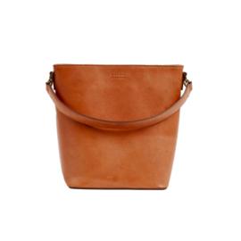 O My Bag Bobbi Bucket Bag Maxi, cognac
