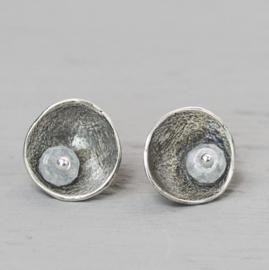 Jeh Jewels oorstekers zilver oxy + maansteen