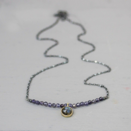 Jeh Jewels collier zilver/oxy/verguld