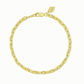 Flawed bracelet Chunky Hooked, goldplated