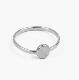 Charlotte Wooning ring Ancient Flat Ball - zilver