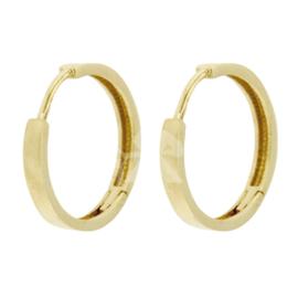 14 karaat goud klapcreolen (meerdere groottes)