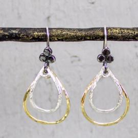 Jeh Jewels oorhangers zilver en goldfilled