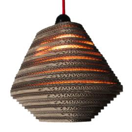 KarTent pendant lamp made of cardboard, asymmetrical