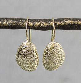 Jeh Jewels 14 karaat goud oorhangers organisch