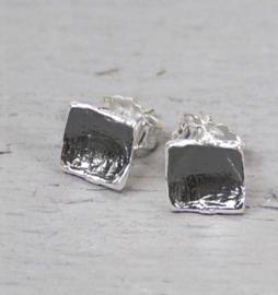 Jeh Jewels oorstekers zilver/oxy vierkant