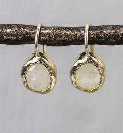 Jeh Jewels oorhangers zilver verguld maansteen