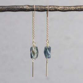 Jeh Jewels threaded earrings goldfilled kyanite