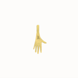 Flawed pendant Modern hand, goldplated