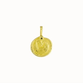 Flawed pendant Rosa, goldplated