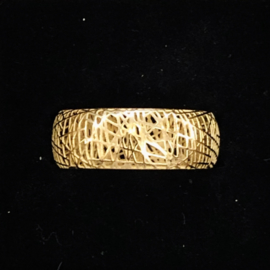 Jeh Jewels ring 14kt geelgoud, 3D recht