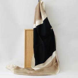 Denovembre scarf Domino - beige + black