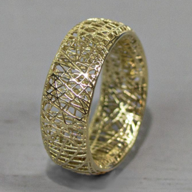 Jeh Jewels 14kt gold ring 3D printed, straight