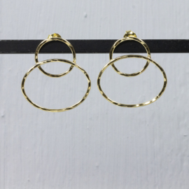 Jeh Jewels ear studs open circles silver goldplated