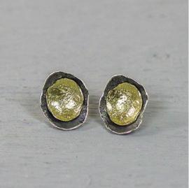 Jeh Jewels oorstekers zilver oxy/zilver verguld