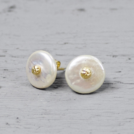 Jeh Jewels ear studs freshwater pearls goldplated