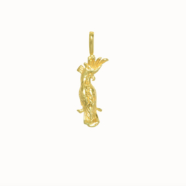 Flawed pendant Cacatua, goldplated