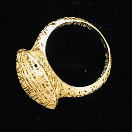 Jeh Jewels ring 14kt geelgoud, 3D rond