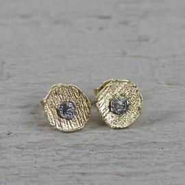 Jeh Jewels oorstekers zilver verguld/oxy