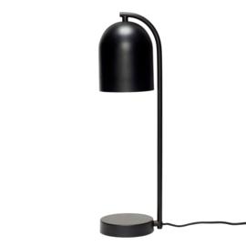 Hubsch table lamp, metal, black