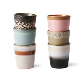 HK living 70's coffee mugs, per piece